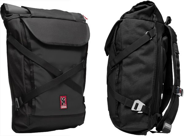 Chrome Bravo Laptop Backpack. It expands to to double in size! I want this bag!