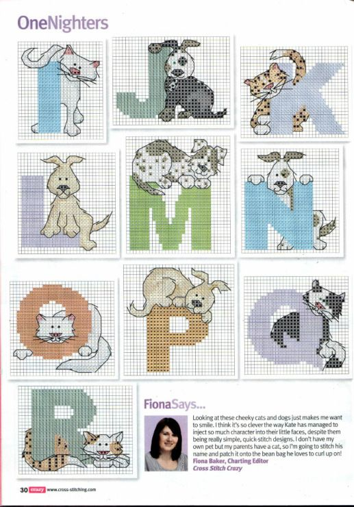 Cats And Dogs Abc Part 2 Free Cross Stitch Patterns