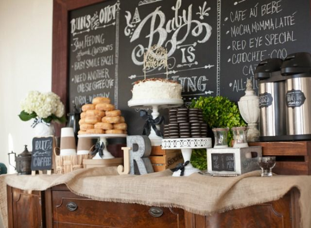 Paula Biggs, from Frog Prince Paperie, shares the sweet details of the Coffee and Cravings Baby Shower she planned to celebrate her friend's second baby.