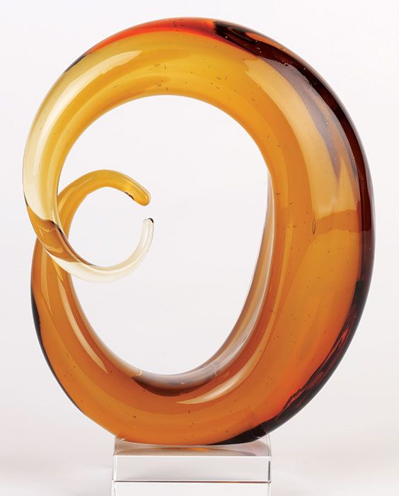 Amber Glass Moon. A centerpiece that hints at your hidden skill as an astrophysicist. Shhhhh... it's not polite to brag.