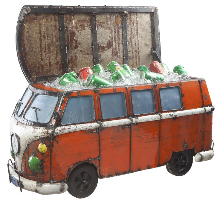 Kool Kombi ice bucket constructed out of recycled drums #kombi #homewares  http://digitaledition.lighthome.com.au/#folio=6