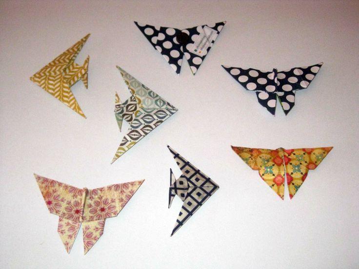 Origami Íman: Borboletas e Peixe Anjo  | Origami magnet: Butterflies and Angelfish More info: https://www.facebook.com/oficinaa6shop