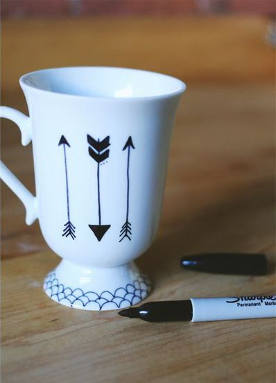 Great gift idea! Personalize a set of coffee or tea cups for someone special!