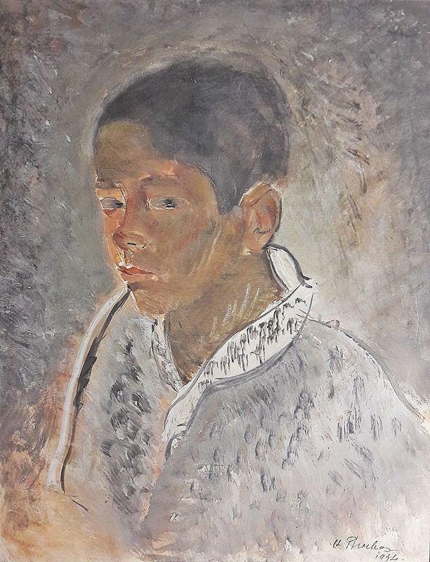 Alexandru Phoebus (1899-1954) Portret de baiețel / Portrait of a boy