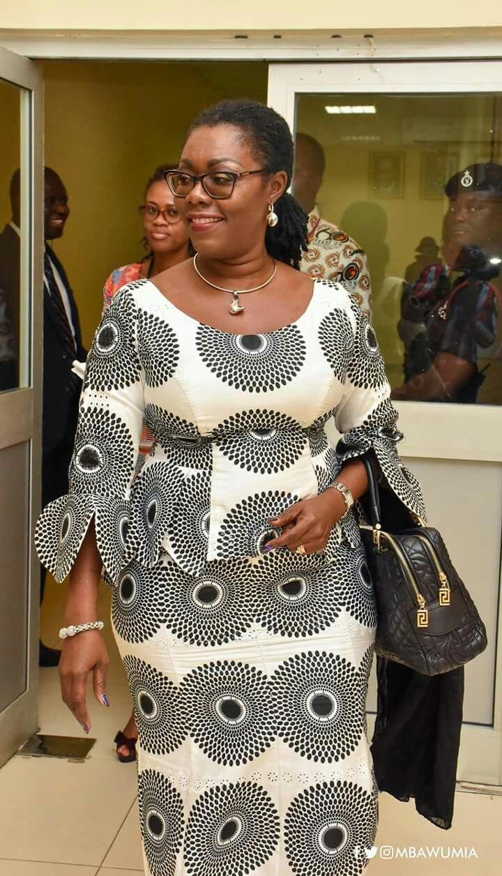 Ursla Owusu in a beautiful Kaba and slit dress, with matching jewellery