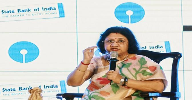Digital transactions in banking sector going up: SBI chief Arundhati Bhattacharya - The Economic Times