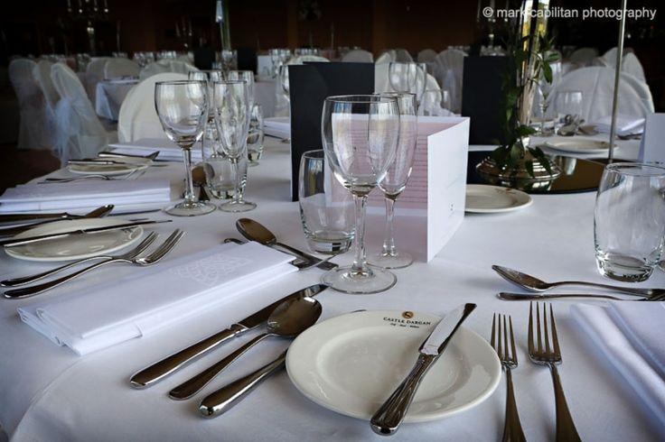 Wedding table details Castle Dargan Ireland wedding photographer Sligo