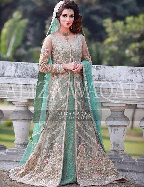 Saira Rizwan mint green