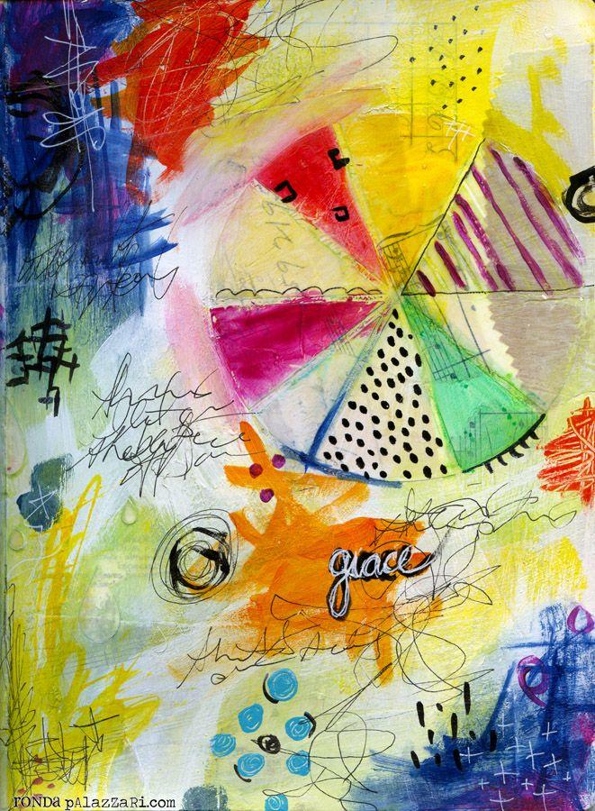 Ronda Palazzari - 8 of top 10 - Art Journal Pages...