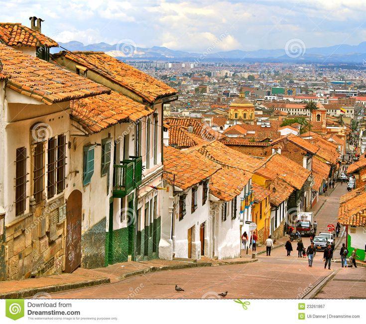 Calle Colonial, Bogotá, Colombia Fotografía editorial - Imagen ...