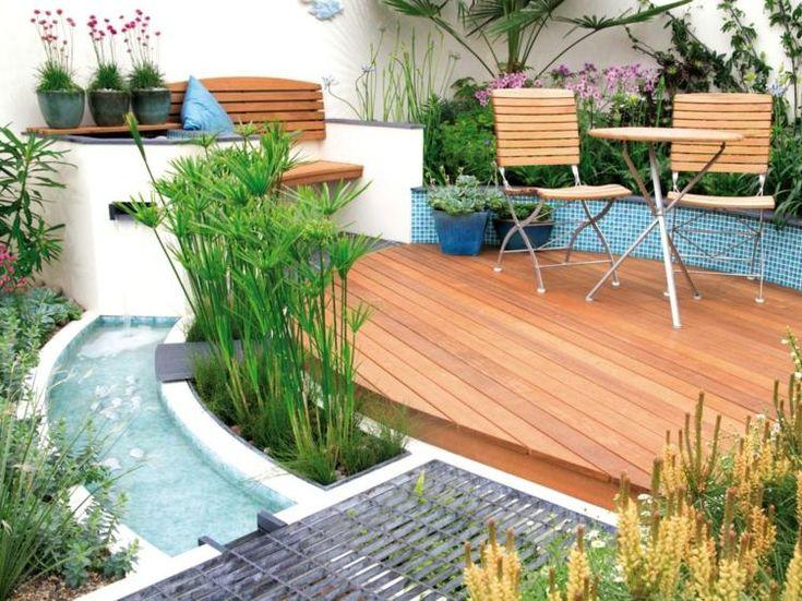 Wasserspiele-Garten-klein-Terrasse-Teich-anlegen | Gartenideen ...