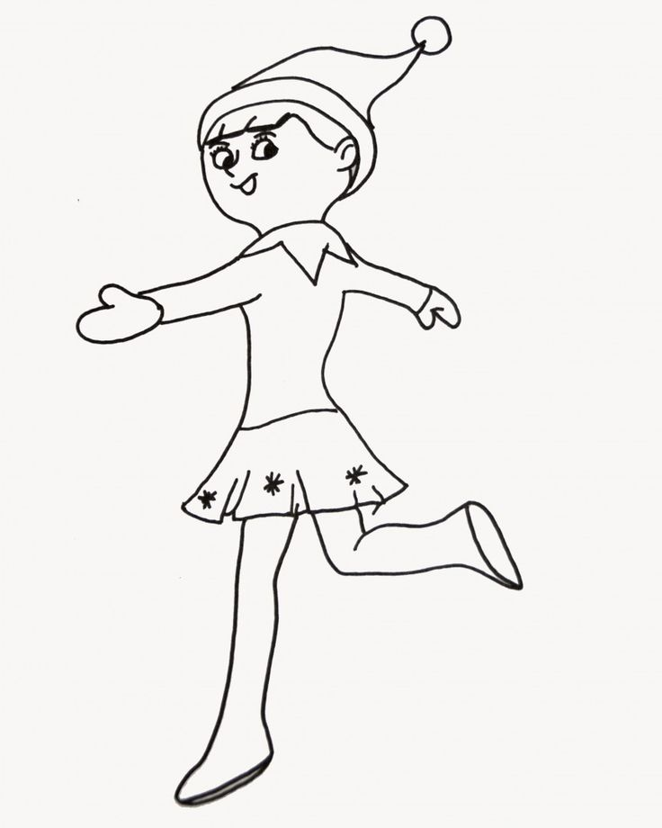 girl elf on the shelf coloring pages