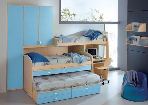 Dormitorio para 3 ni os buscar con google decoraci n - Dormitorios para ninos ...