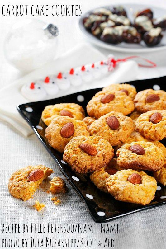 Holiday baking: carrot cake cookies (egg-free). By Pille @ Nami-Nami