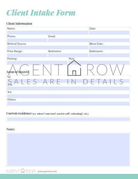Best 25+ Real estate forms ideas on Pinterest Dfw real estate - client information form template