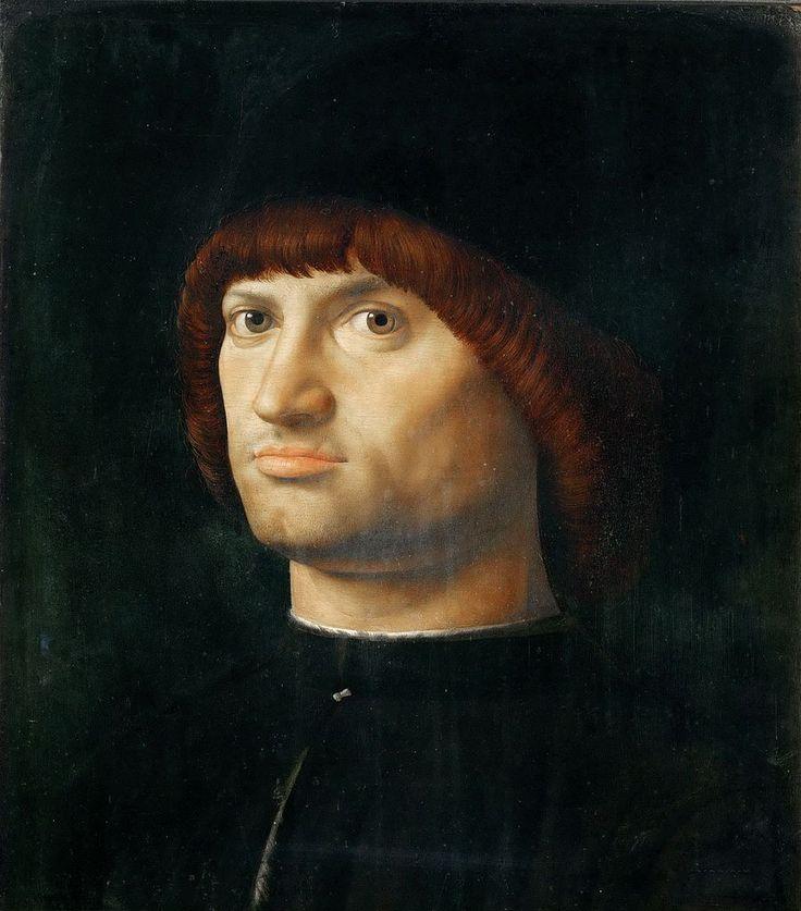 Antonello da Messina (1430-1479) — Portrait of a  Man, 1475  :   The Louvre Museum,   Paris.  France (900×1024)