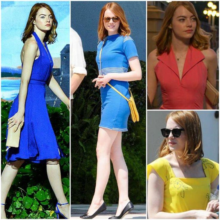 Celebrity Style,Emma Stone,La La Land,Emma Stone Fashion,La La Land Outfits,Emma Stone La La Land,Emma Stone La La La Land outfits,La la land looks