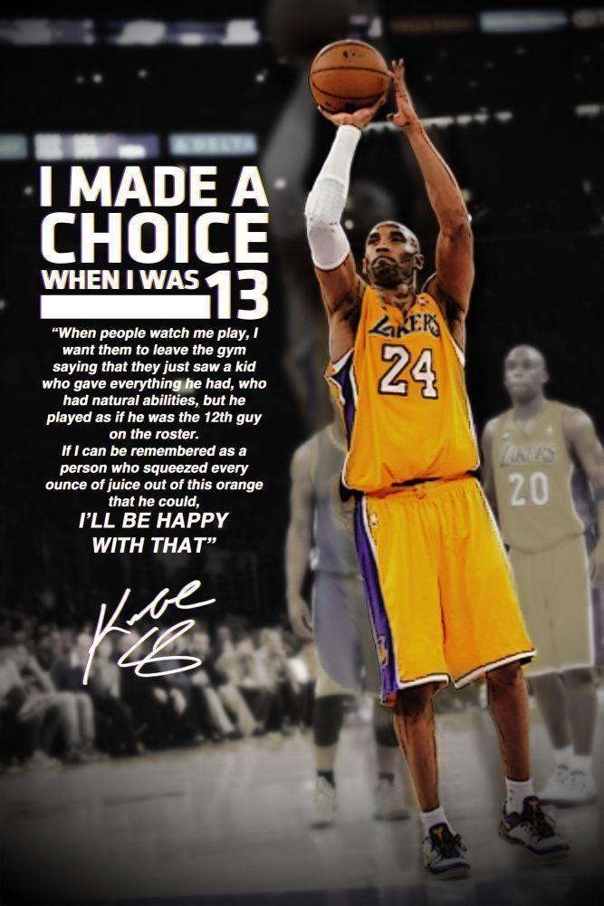 Kobe Bryant Motivational Inspirational Sayings Poster Multiple Sizes Kobe Bryant Quotes Basketball Quotes Kobe Quotes