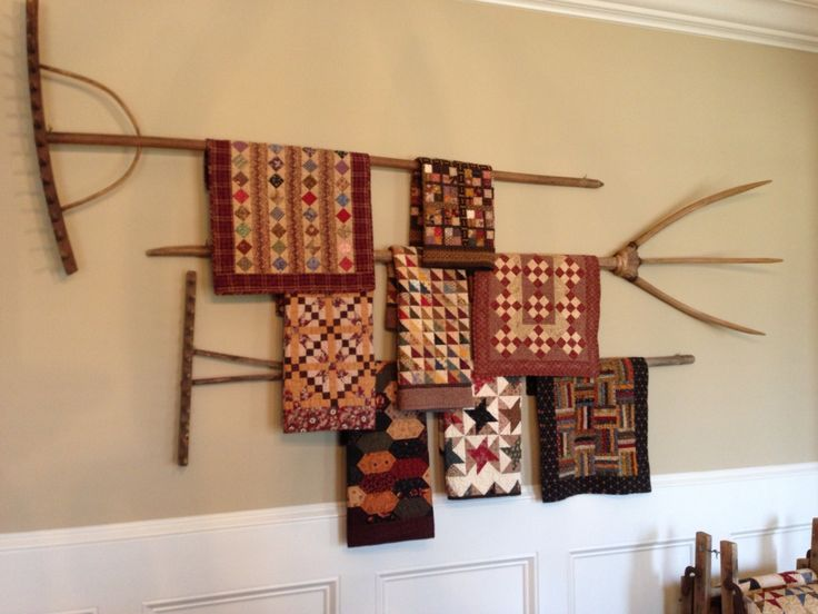 A closer look of my rake collection. These are in my home www.quilthollow.com