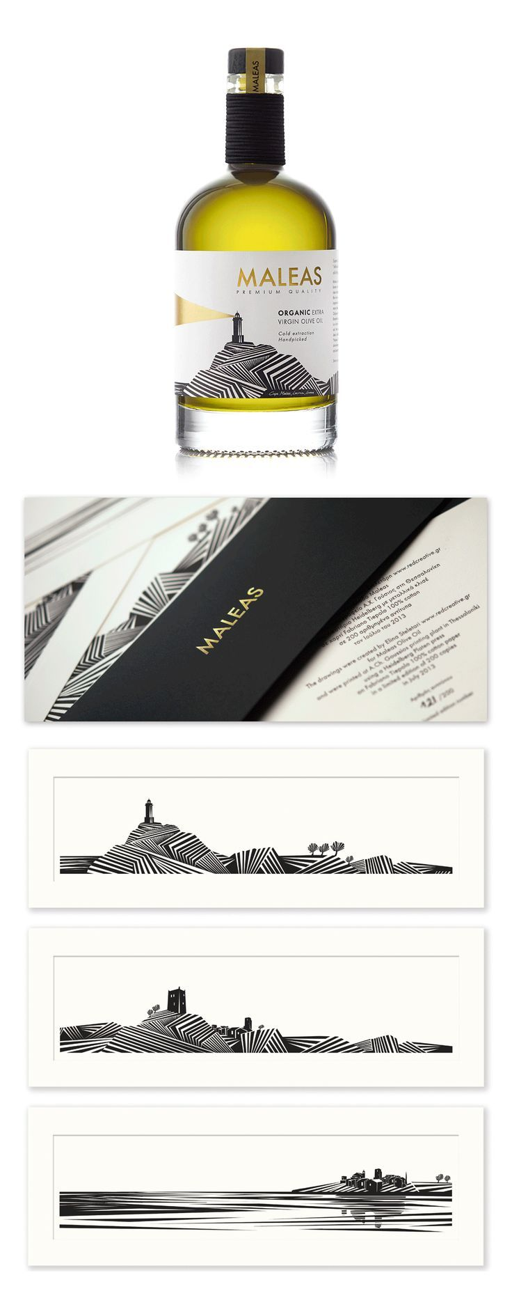 """For you @Thayaa . . . more on """"Maleas Olive Oil"""" by Red Creative #packaging #design #bottle"""