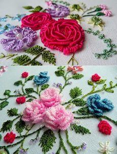 Бразильская техника вышивки (Brazilian Dimensional Embroidery) ☆ швы и стежки, мастер -классы и видео.