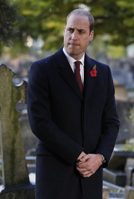 The prince, of course, was seen wearing a memorial poppy during his engagement