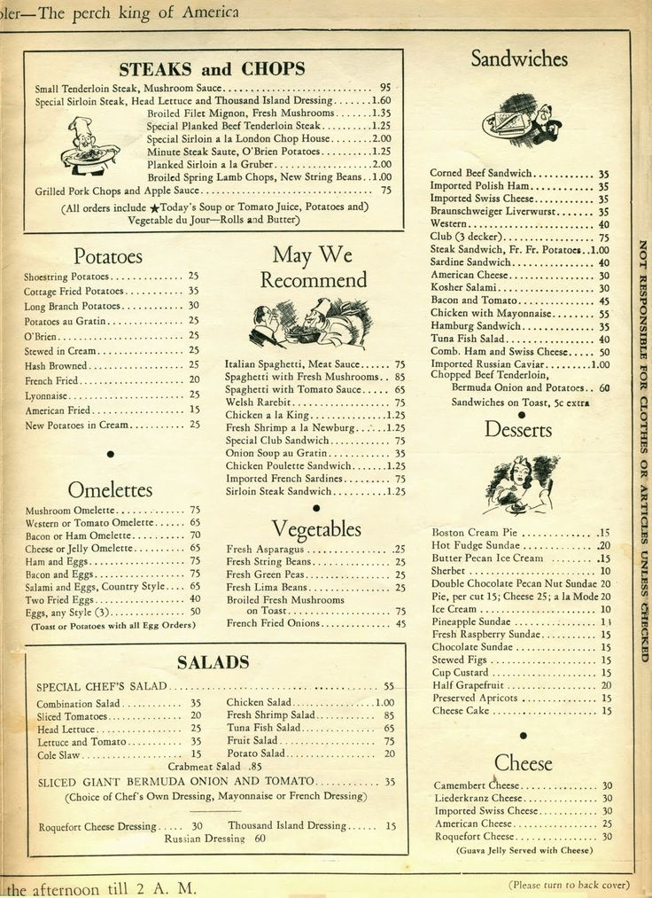 59 best images about 1940s restaurants menus on. Black Bedroom Furniture Sets. Home Design Ideas
