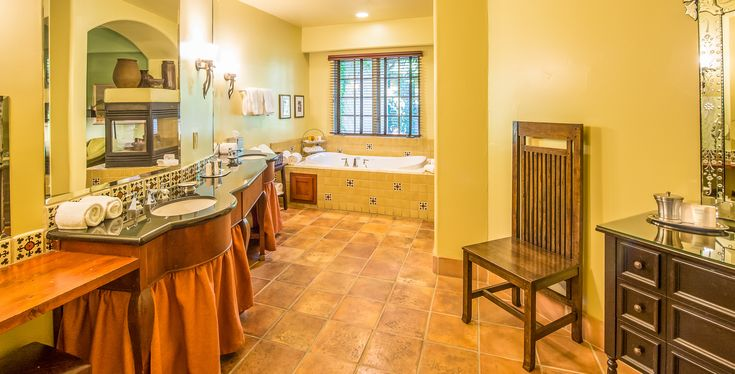 The bathroom in the luxurious Alma suite.