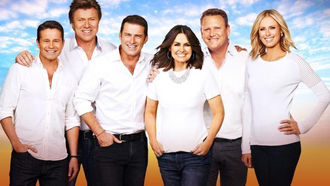 Channel 9's Today show cast Steve Jacobs, Richard Wilkins, Karl Stefanovic, Lisa Wilkinson, Tim Gilbert and Sylvia Jeffreys.