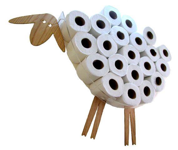 SHEEP-shelf - a wall shelf for storage of toilet paper rolls (12-32 rolls)
