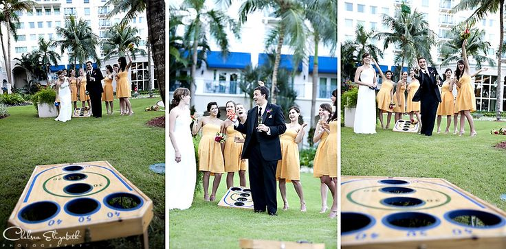 Bean Toss,bocce ball, and more wedding games to keep your guests and children entertained.
