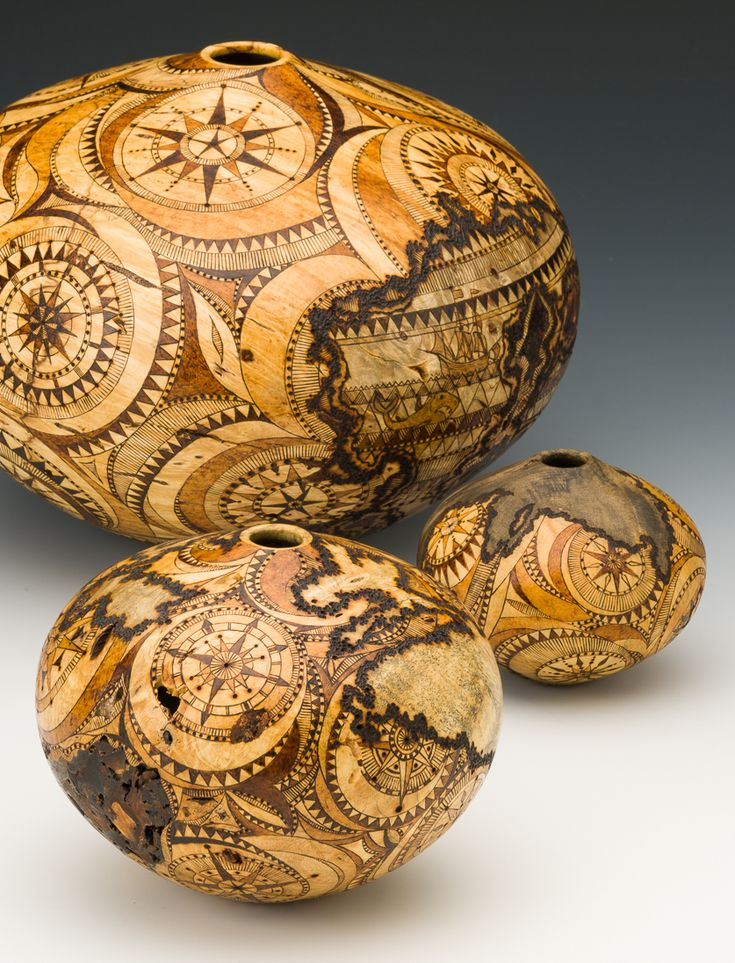 """The """"Navigator Series"""". Gorgious set of hollow forms by Mike Jackofsky and Georgianne Jackofsky. --- from Craft Supplies USA #woodturning #woodturner #woodturnerscatalog"""
