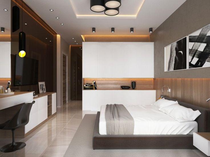chambre de luxe et déco avec meubles contemporains