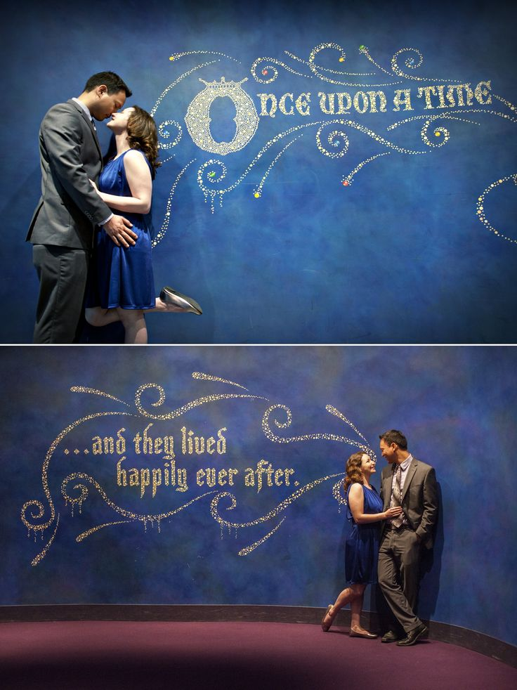 Disneyland engagement photos in California Adventure - Once upon a time // Happily ever after