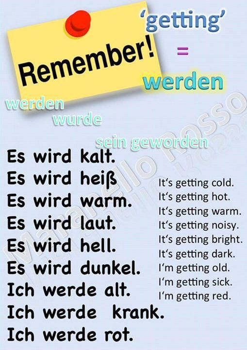 Werden = to become, to get