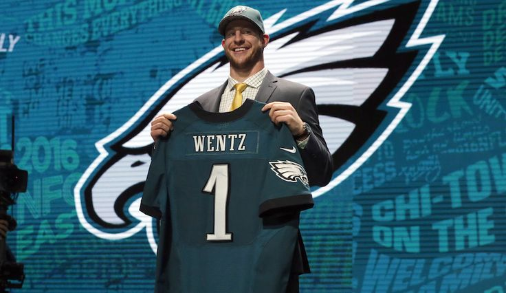 The Number 2 pick in The 2016 Nfl Draft . Carson Wentz The Philadelphia Eagles Quarterback