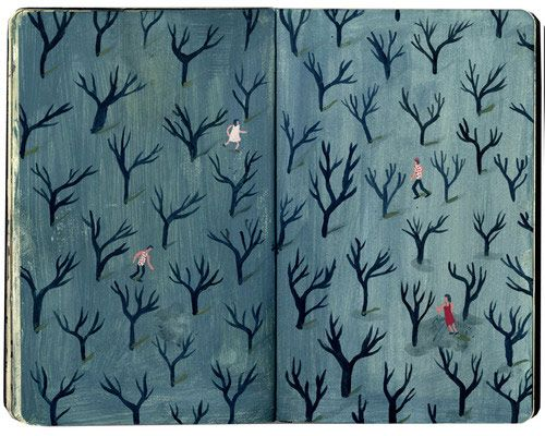 nicholas stevenson - decorated endpapers