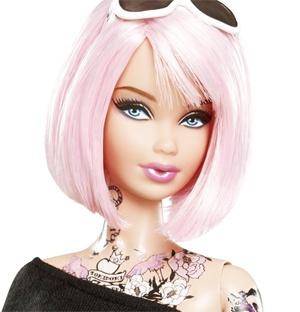 Tokidoki Barbie Tattooed Barbie Pink Hair Japan Goth Punk Fashion Doll Mint