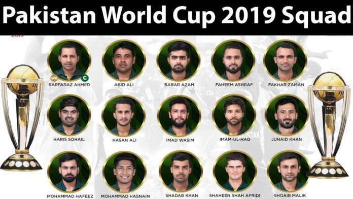 Pakistan Cricket Team Squad For 2019 Cricket World Cup Pakistan Cricket Team Cricket World Cup Cricket Teams