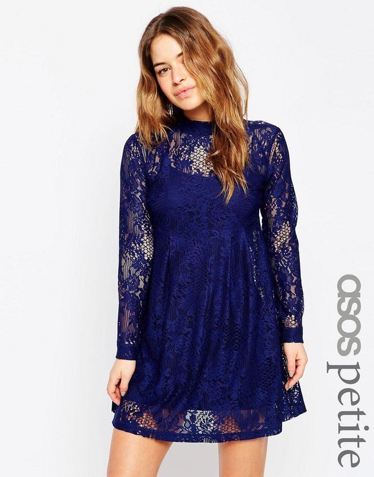 ASOS PETITE Lace Babydoll Dress