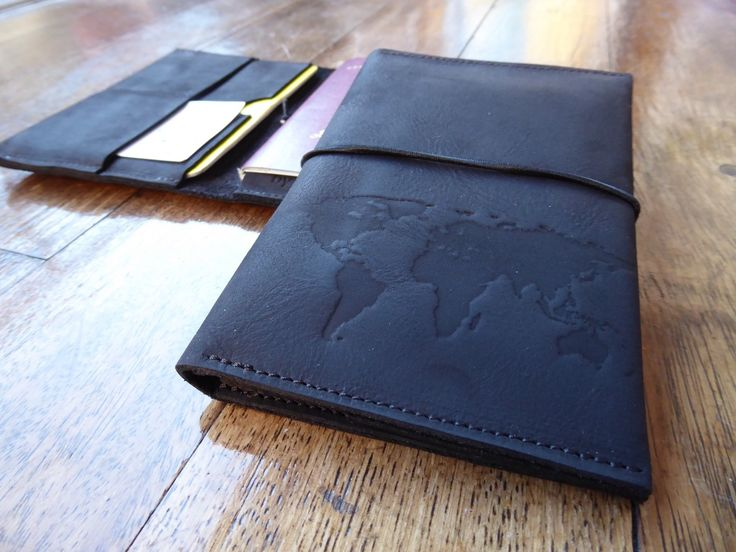 Passport wallet black