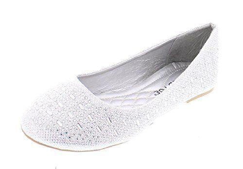 58bed63a87d18 Women s Karma Rhinestone Studded Sparkle Ballet Flats