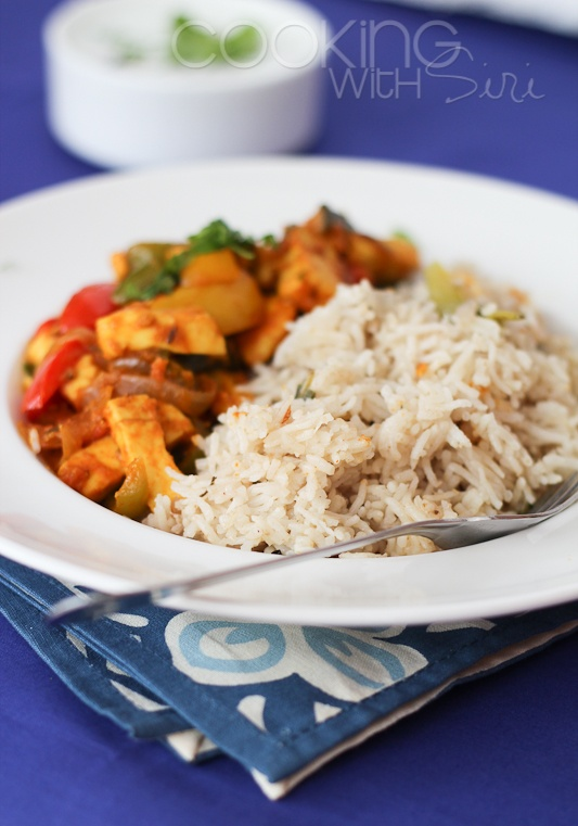 Cooking With Siri: {Recipe} Paneer Jalfrezi with Home-made Coconut Milk Fried Rice