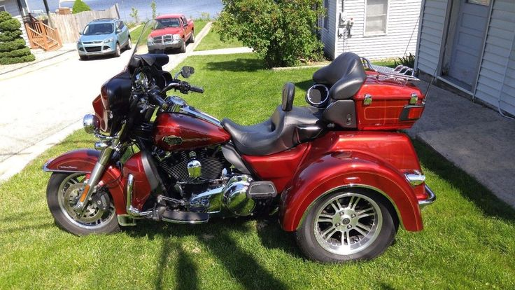 eBay: 2010 Harley-Davidson Touring 2010 Ultra Classic Tri Glide - Sunglo Red - Low Miles - Factory Reverse #motorcycles #biker
