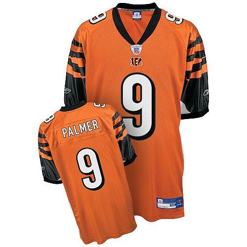 Reebok Cincinnati Bengals Carson Palmer 9 Orange Authentic Jerseys Sale