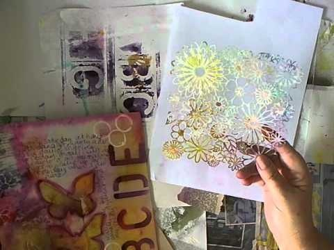 Today I am going to show you how I make my own stencils and then show you how I use it in my Art Journaling. To start with there is a SHORT video, then onto the tutorial in pictures and words. Enjoy!