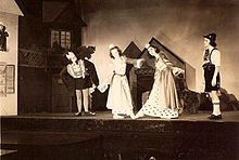 Production for 12 Dancing Princesses at Childrens Theare Maine in 1942