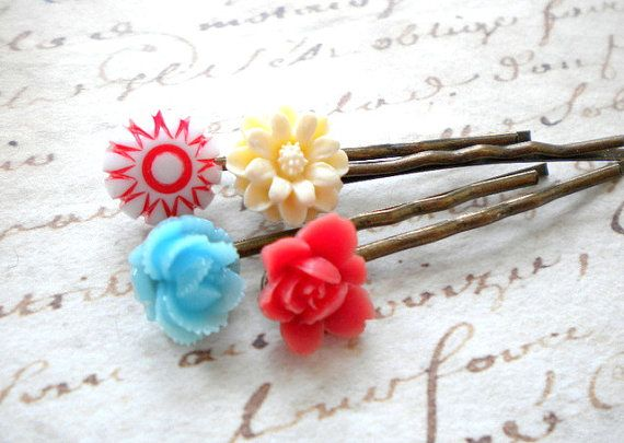 Gift For Flower Girl Flower Bobby Pin Hair Accessories Bobby Pin Flowers Flower Girl Hair Pin Colorful Bobby Pin Children Hair Accessories