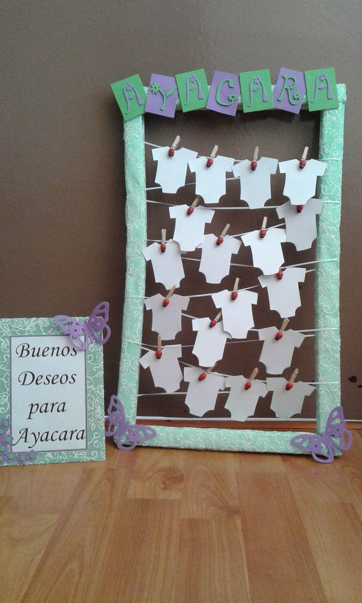 cuadro de los buenos deseos baby shower