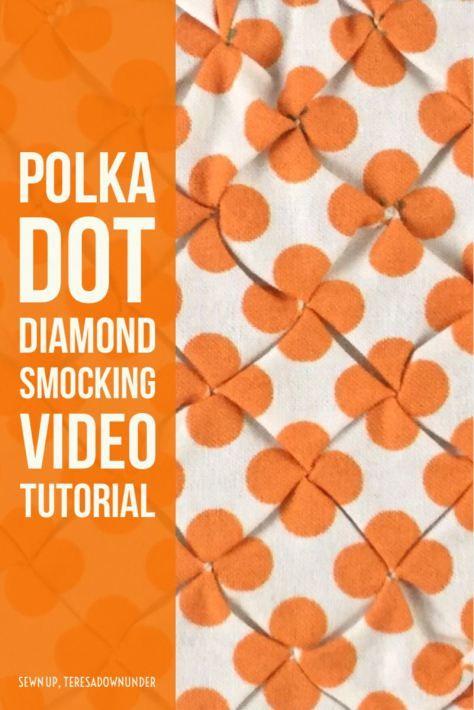 Video tutorial: polka dot smocking